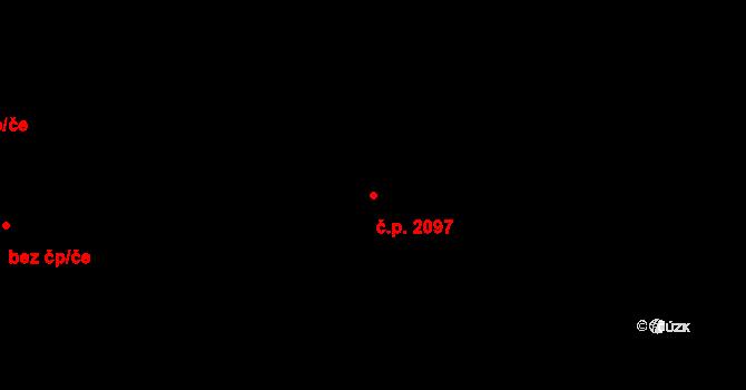 Nové Město 2097, Praha na parcele st. 1166/1 v KÚ Nové Město, Katastrální mapa
