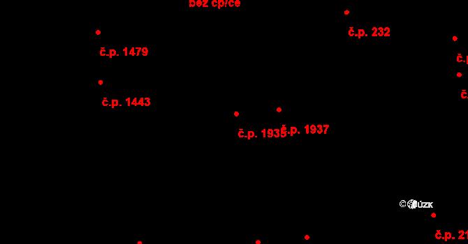 Blansko 1935 na parcele st. 2872 v KÚ Blansko, Katastrální mapa
