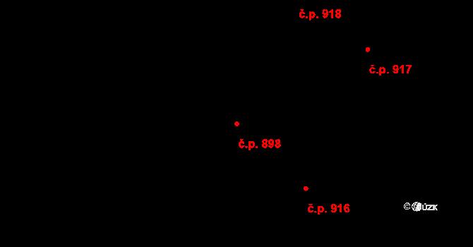Kolovraty 898, Praha na parcele st. 1240/113 v KÚ Kolovraty, Katastrální mapa