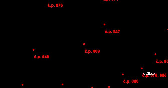 Staré Město 669, Praha na parcele st. 664 v KÚ Staré Město, Katastrální mapa