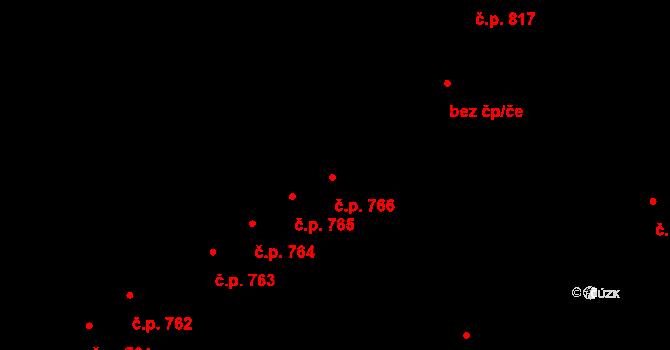 Újezd 766, Plzeň na parcele st. 1066/11 v KÚ Újezd, Katastrální mapa