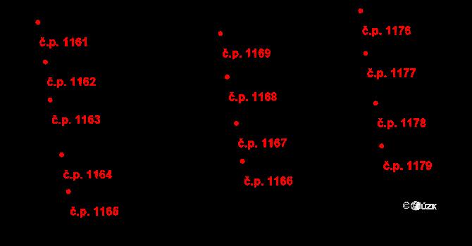 Svítkov 1167, Pardubice na parcele st. 1987 v KÚ Svítkov, Katastrální mapa
