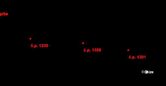 Nový Bohumín 1159, Bohumín na parcele st. 1537/6 v KÚ Nový Bohumín, Katastrální mapa