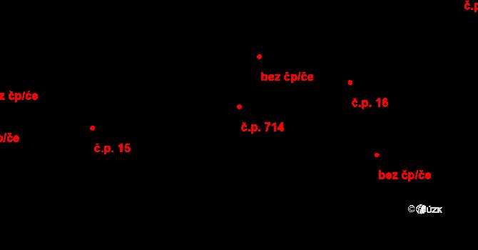 Luka nad Jihlavou 714 na parcele st. 872 v KÚ Luka nad Jihlavou, Katastrální mapa