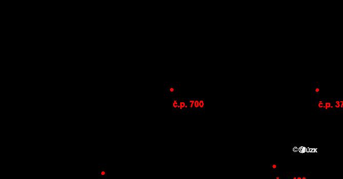 Žižkov 700, Praha na parcele st. 769 v KÚ Žižkov, Katastrální mapa