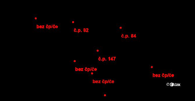 Lužná 147 na parcele st. 248/2 v KÚ Lužná u Vsetína, Katastrální mapa