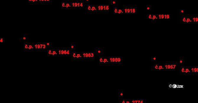 České Budějovice 3 1959, České Budějovice na parcele st. 4588/1 v KÚ České Budějovice 3, Katastrální mapa