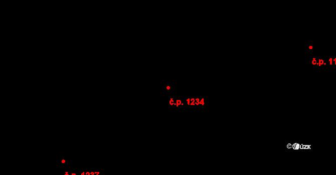 Mariánské Hory 1234, Ostrava na parcele st. 1741 v KÚ Mariánské Hory, Katastrální mapa