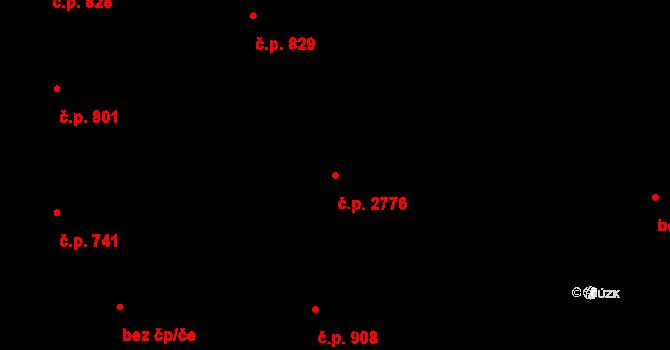 Stodůlky 2776, Praha na parcele st. 1174/4 v KÚ Stodůlky, Katastrální mapa