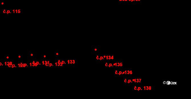 Doubravice 134, Pardubice na parcele st. 1261 v KÚ Semtín, Katastrální mapa