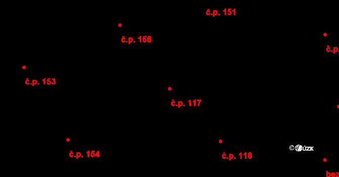 Staré Hodějovice 117 na parcele st. 328/17 v KÚ Staré Hodějovice, Katastrální mapa