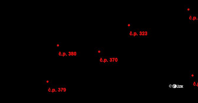 Karlín 370, Praha na parcele st. 220 v KÚ Karlín, Katastrální mapa