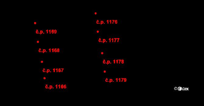 Svítkov 1178, Pardubice na parcele st. 1992 v KÚ Svítkov, Katastrální mapa