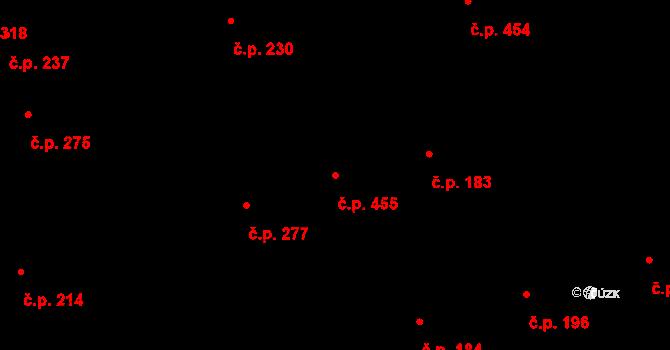 Buštěhrad 455 na parcele st. 986 v KÚ Buštěhrad, Katastrální mapa