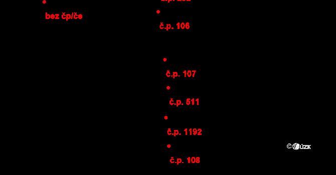 Malenovice 511, Zlín na parcele st. 238/2 v KÚ Malenovice u Zlína, Katastrální mapa