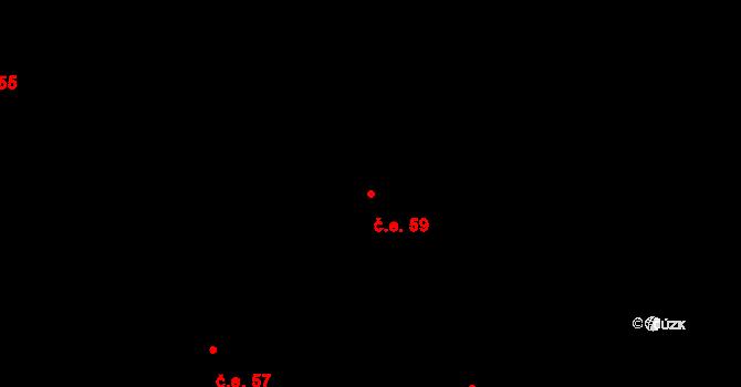 Děhylov 59 na parcele st. 280/2 v KÚ Děhylov, Katastrální mapa