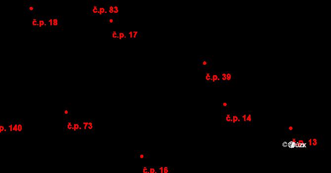 Kozlov 39 na parcele st. 49 v KÚ Kozlov u Jihlavy, Katastrální mapa