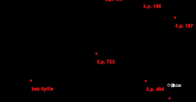 Lednice 723 na parcele st. 1142/1 v KÚ Lednice na Moravě, Katastrální mapa