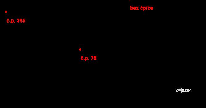 Dlouhá Třebová 76 na parcele st. 178/1 v KÚ Dlouhá Třebová, Katastrální mapa