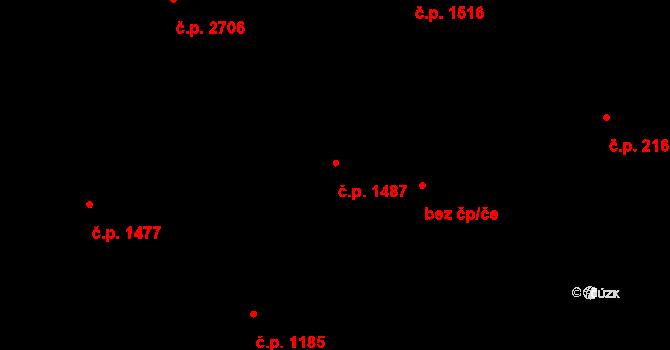 Újezd nad Lesy 1487, Praha na parcele st. 1441 v KÚ Újezd nad Lesy, Katastrální mapa