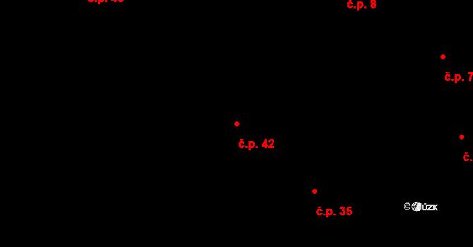 Sedlejov 42 na parcele st. 34 v KÚ Sedlejov, Katastrální mapa