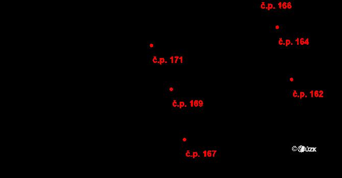 Stránice 169, Brno na parcele st. 231 v KÚ Stránice, Katastrální mapa