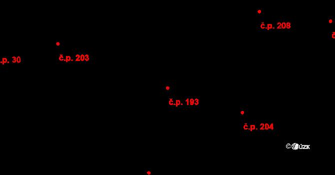 Dražkovice 193, Pardubice na parcele st. 603 v KÚ Dražkovice, Katastrální mapa