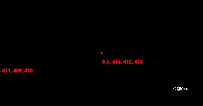 Horní Měcholupy 413, Praha na parcele st. 509/79 v KÚ Horní Měcholupy, Katastrální mapa
