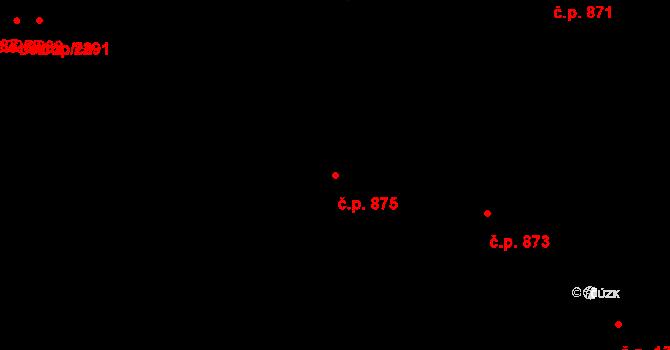 Zlín 875 na parcele st. 967 v KÚ Zlín, Katastrální mapa