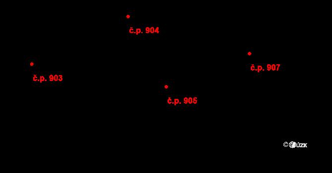 Liberec XV-Starý Harcov 905, Liberec na parcele st. 875/10 v KÚ Starý Harcov, Katastrální mapa