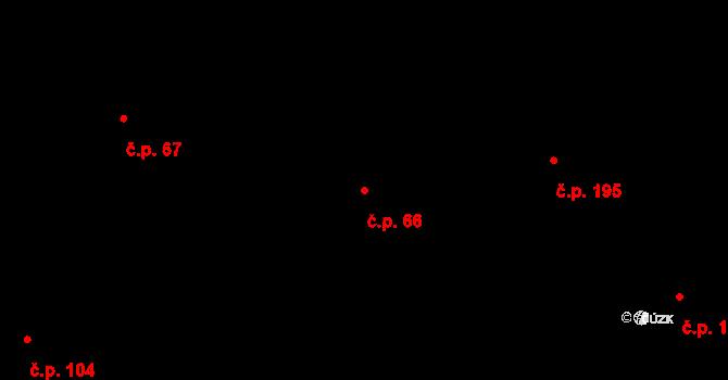 Děhylov 66 na parcele st. 505/1 v KÚ Děhylov, Katastrální mapa