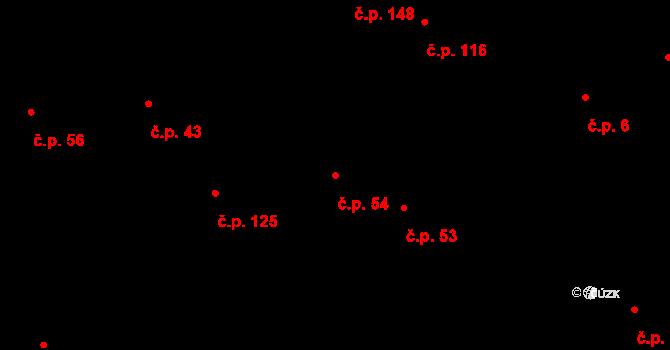 Lípa 54 na parcele st. 433 v KÚ Lípa nad Dřevnicí, Katastrální mapa