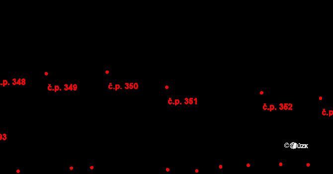 Valtice 351 na parcele st. 1644/1 v KÚ Valtice, Katastrální mapa