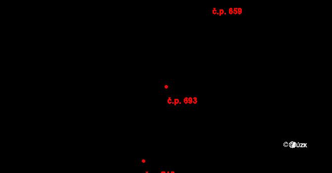 Bohunice 693, Brno na parcele st. 3008 v KÚ Bohunice, Katastrální mapa