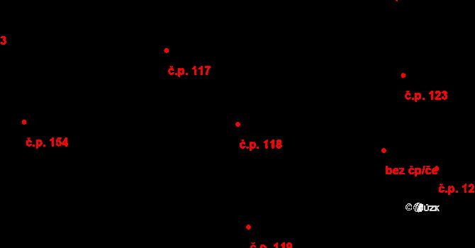 Staré Hodějovice 118 na parcele st. 328/19 v KÚ Staré Hodějovice, Katastrální mapa
