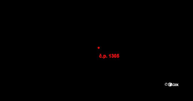Krč 1305, Praha na parcele st. 2869/97 v KÚ Krč, Katastrální mapa