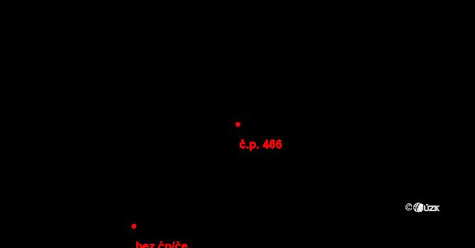 Vršovice 466, Praha na parcele st. 1880/11 v KÚ Vršovice, Katastrální mapa