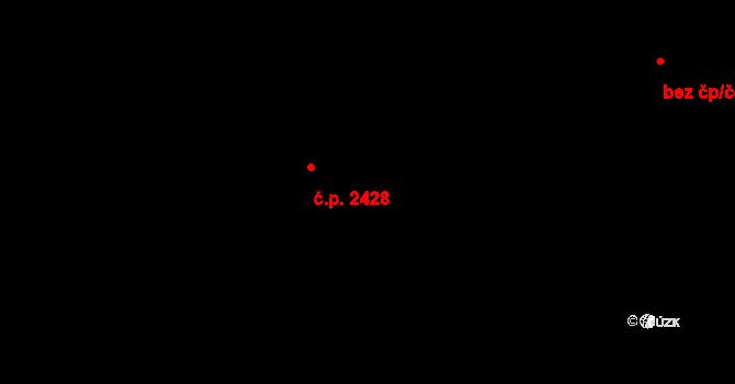 Břevnov 2428, Praha na parcele st. 2552/83 v KÚ Břevnov, Katastrální mapa