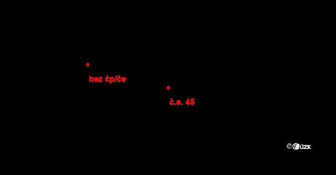 Sebuzín 45, Ústí nad Labem na parcele st. 592 v KÚ Sebuzín, Katastrální mapa
