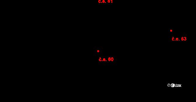 Děhylov 60 na parcele st. 283/2 v KÚ Děhylov, Katastrální mapa