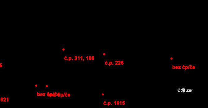 Žižkov 226, Praha na parcele st. 1540/3 v KÚ Žižkov, Katastrální mapa