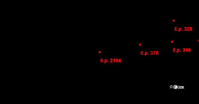 Kladno 2104 na parcele st. 3793 v KÚ Kladno, Katastrální mapa