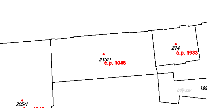 Nové Město 1048, Praha na parcele st. 213/1 v KÚ Nové Město, Katastrální mapa