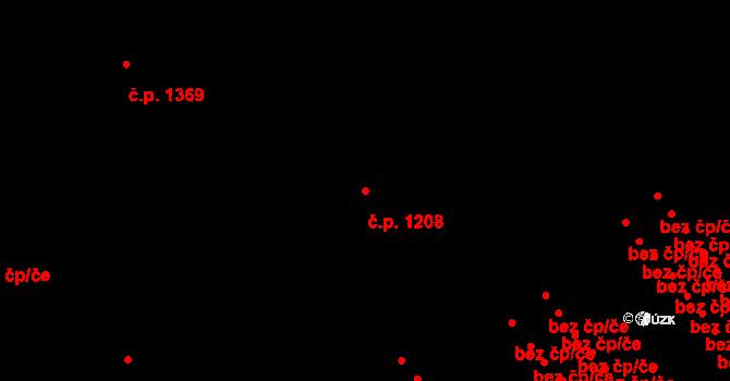 Nová Ulice 1208, Olomouc na parcele st. 2235/1 v KÚ Nová Ulice, Katastrální mapa