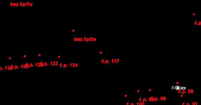 Měrovice nad Hanou 117 na parcele st. 235 v KÚ Měrovice nad Hanou, Katastrální mapa