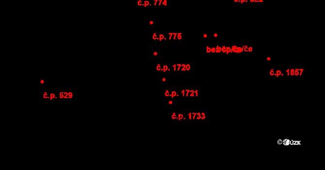 Vlašim 1721 na parcele st. 2821 v KÚ Vlašim, Katastrální mapa