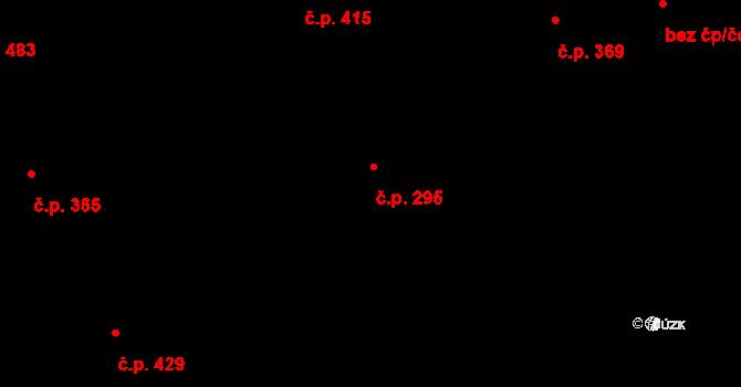 Hrádek 295 na parcele st. 378 v KÚ Hrádek, Katastrální mapa