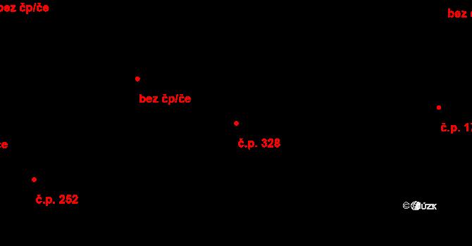 Nová Role 328 na parcele st. 1364 v KÚ Nová Role, Katastrální mapa