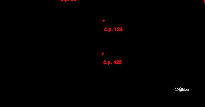 Popovice 125, Rataje na parcele st. 116 v KÚ Popovice u Kroměříže, Katastrální mapa