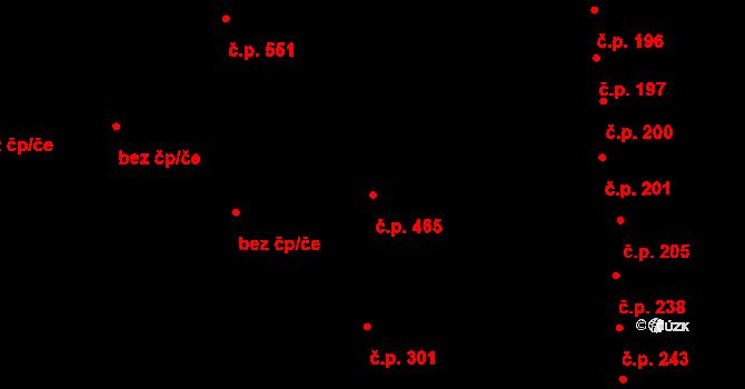 Černovice 465, Brno na parcele st. 101 v KÚ Černovice, Katastrální mapa
